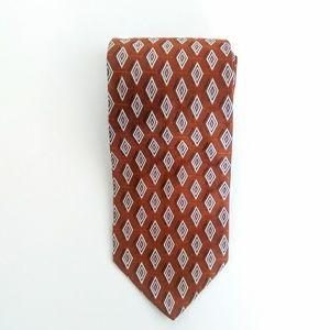 "Jos. A. Bank Diamond Print 59""  Silk Necktie"